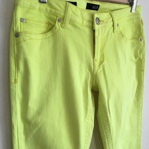 Neon skinny pants